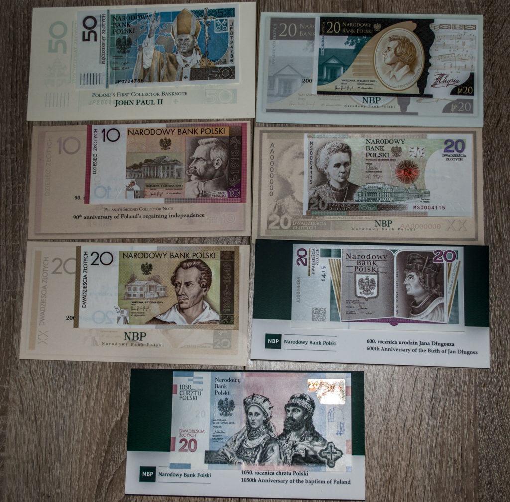 moje kolekcjonerskie banknoty NBP