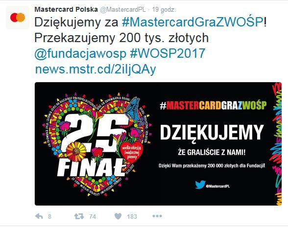 #MasterCardGrazWOŚP