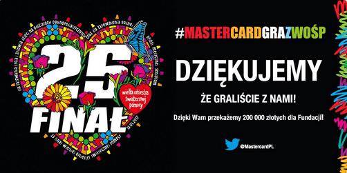 Wyniki akcji #MasterCardGrazWOŚP!