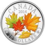 inwestycja w metale szlachetne - Mapple Leaf color 2014